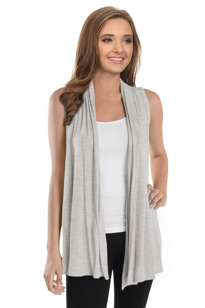 Open Front Sleeveless Cardigan | Products