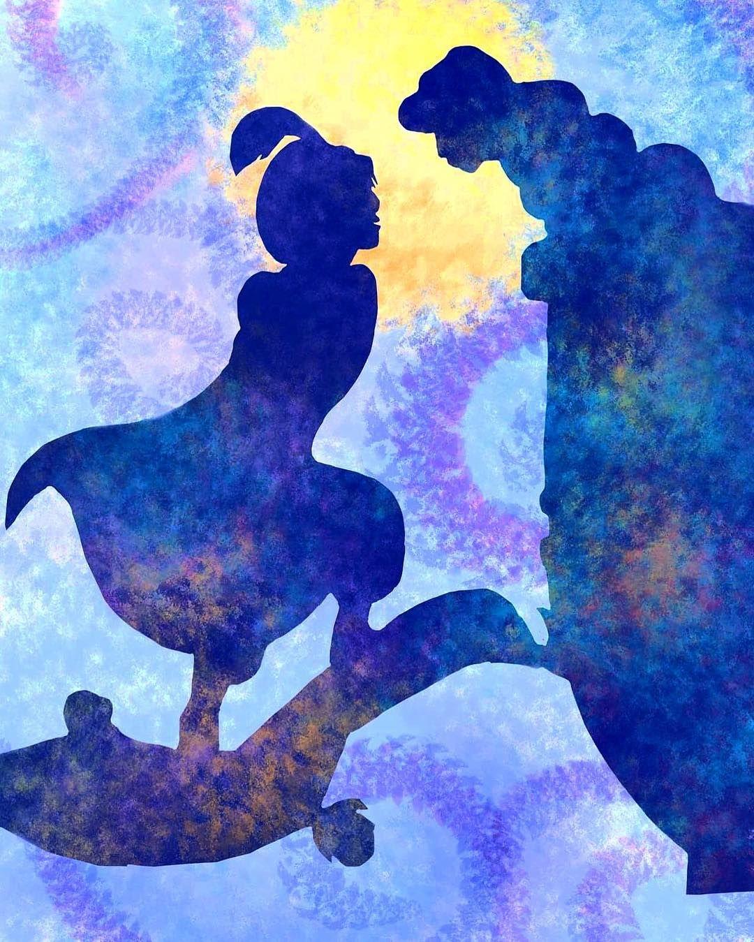 Disney Princess Jasmine Silhouette
