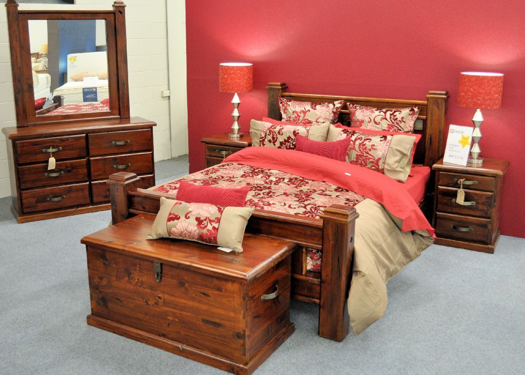 Genial Our Bedroom With This Furniture And A Red Feature Wall