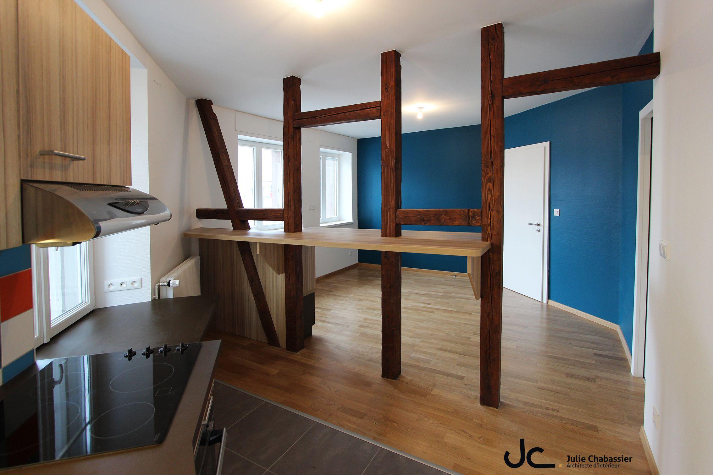 Julie Chabassier Architecte D Intérieur meuble autour du colombage | architecte interieur, maison