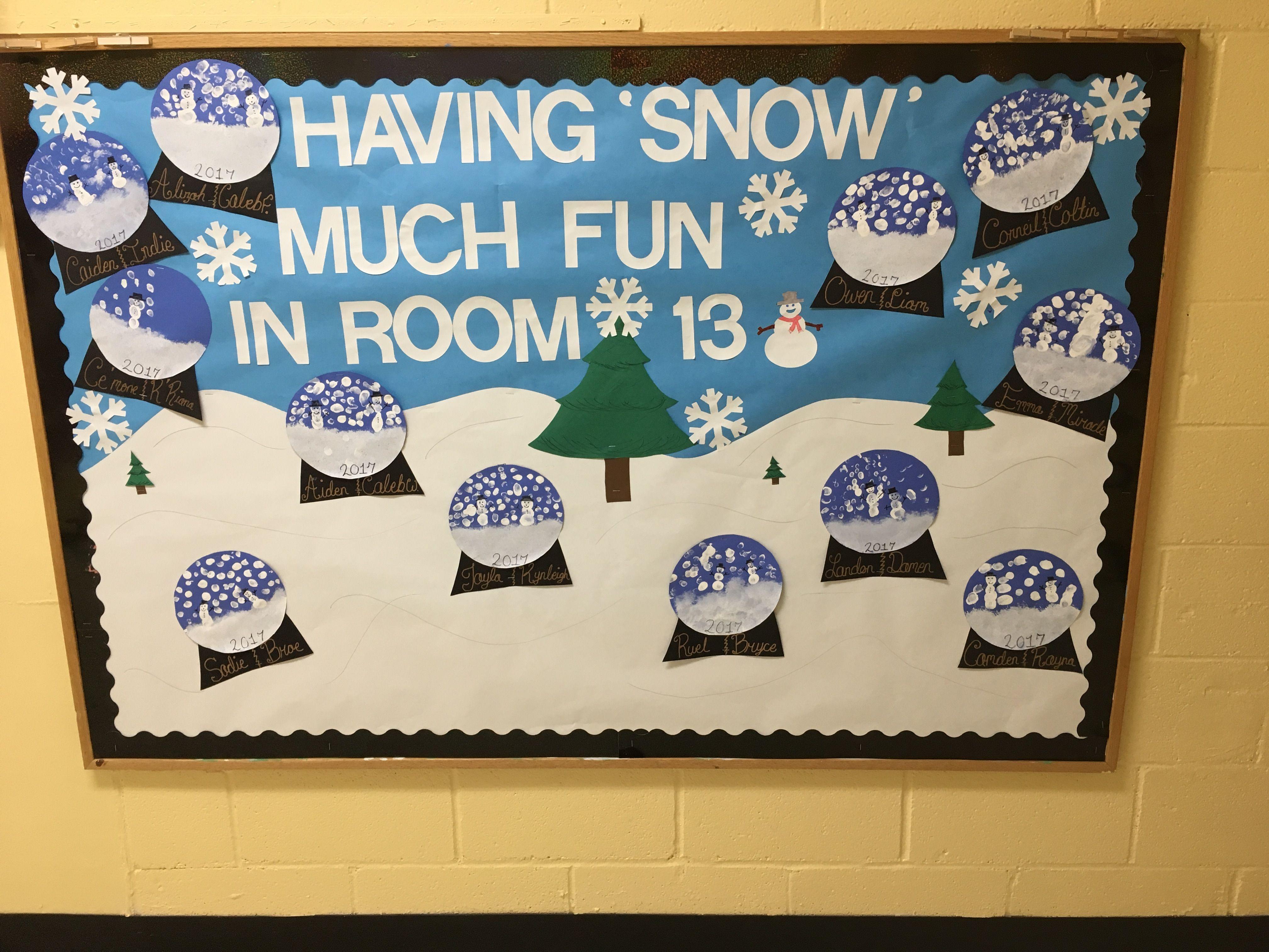 Winter Bulletin Board Boards Preschool Crafts Welcome