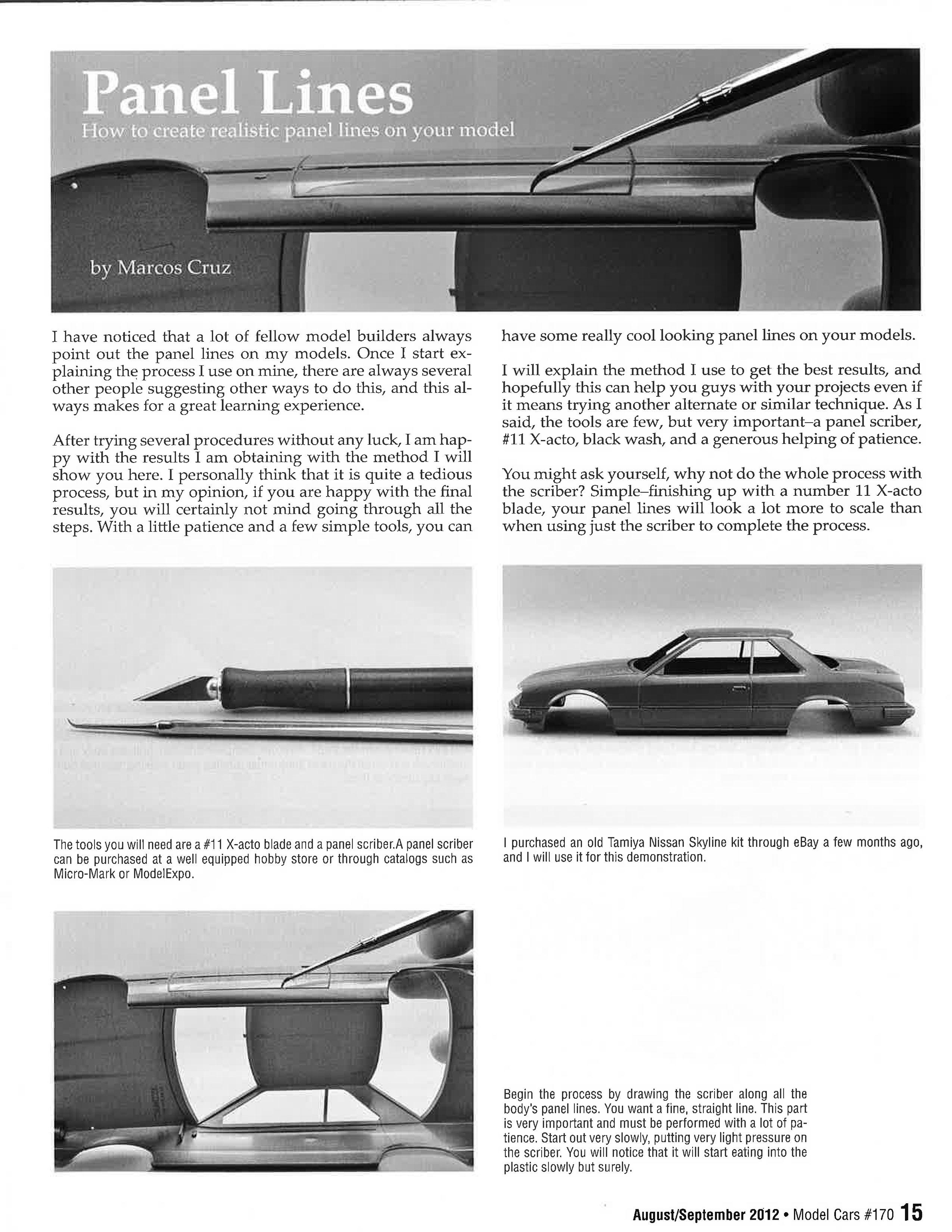 Panel Lines By Marcos Cruz Scaledworld Paneling Car Model Cruz