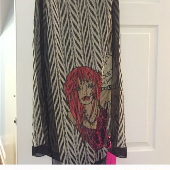 Reserved for @emeraldine BETSEY brand new scarf Reserved sale for emeraldine!!!!! BETSEY JOHNSON scarf!!! Betsey Johnson Accessories Scarves & Wraps