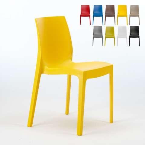 Sedie Design Impilabili.Sedie Polipropilene Impilabile Cucina Casa Bar Rome Grand