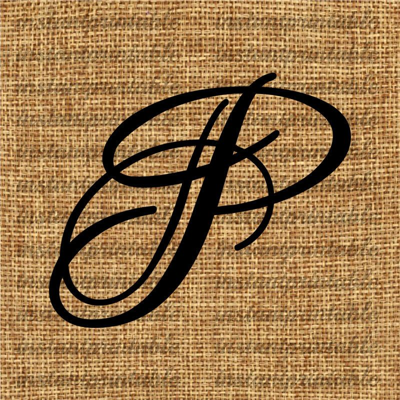 Monogram initial letter p clip art by