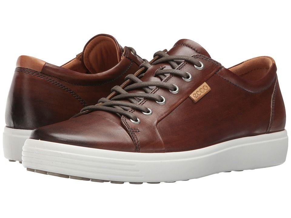 e21457ba1ec9 ECCO Soft 7 Premium Tie Men s Lace up casual Shoes Whisky Ideias De Estilo