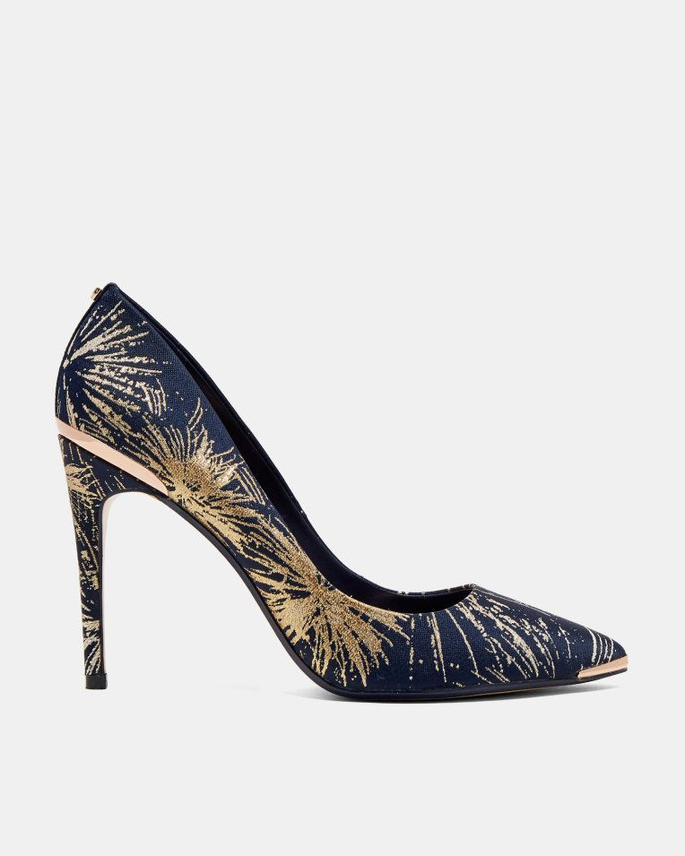 9b665f0e8 Printed pointed courts - Dark Blue