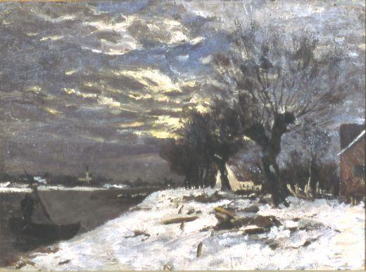 Churberg Fanny (1845 – 1892) Ensilumi sign. 1869   Haapasten kokoelma - Loimaan Taidemuseo