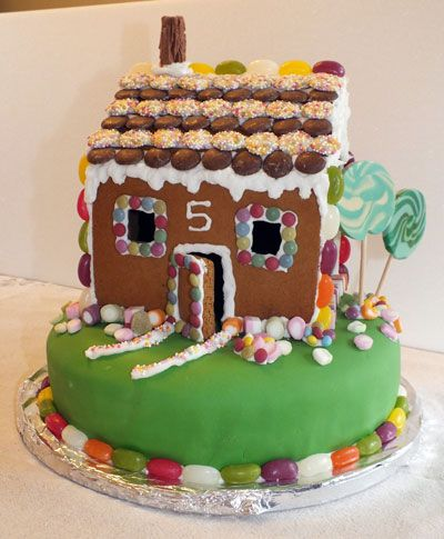 Outstanding Picture Of A Gingerbread House Birthday Cake House Cake Funny Birthday Cards Online Hetedamsfinfo