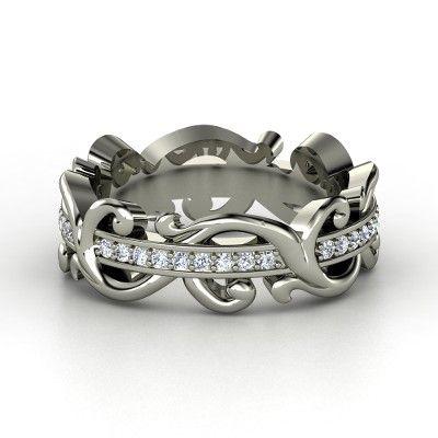 Palladium Ring with Diamond