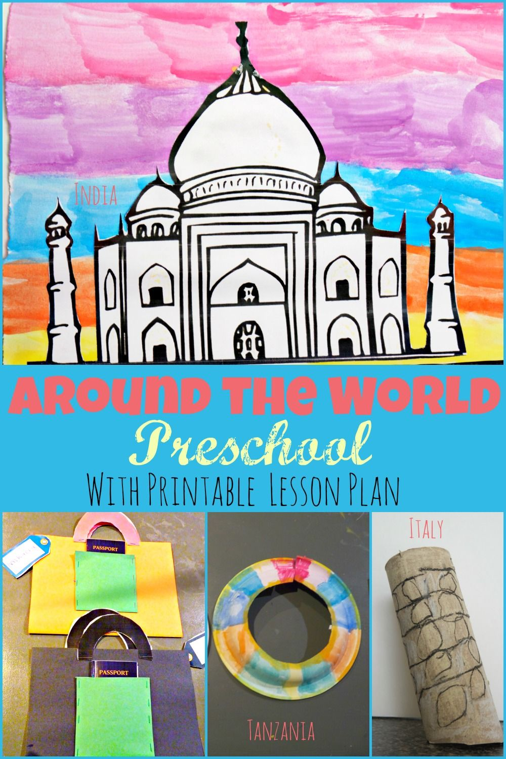 Around The World Preschool Week Theme With Free Printable Two Day