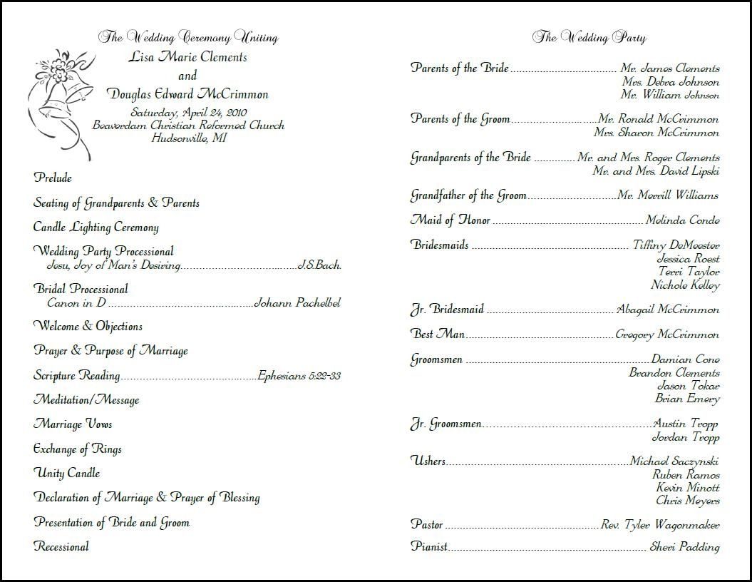 Vow Renewal Program Template One Checklist That You Should Keep In Mind Wedding Ceremony Programs Template Wedding Program Examples Wedding Reception Program Catholic wedding program template free