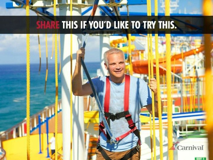 Carnival Cruiseline - Ropes Course - Can't wait to try this!