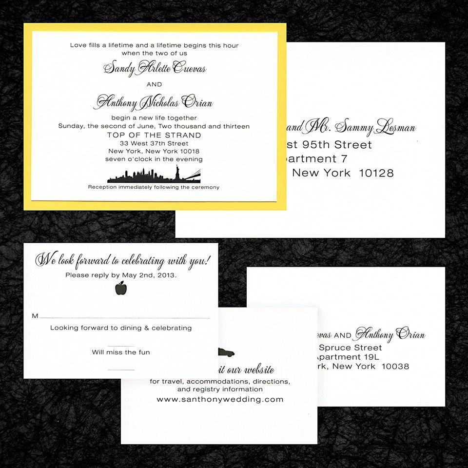 2 Layer Invitation Matte Yellow Paper White Linen Paper Digital