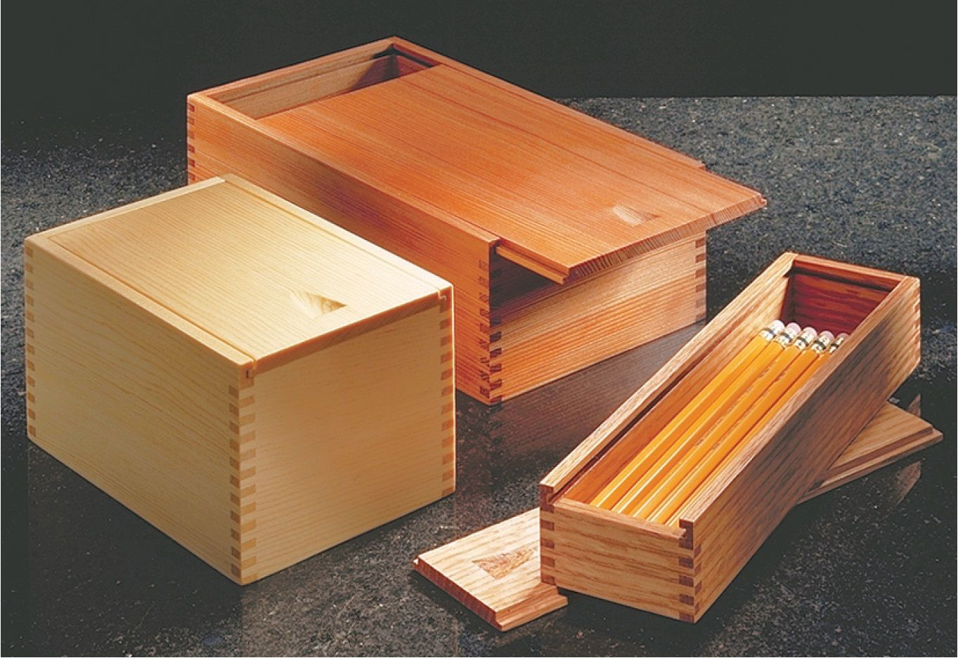 Sliding Lid Boxes Garden Landscaping In 2019 Wooden Box Plans