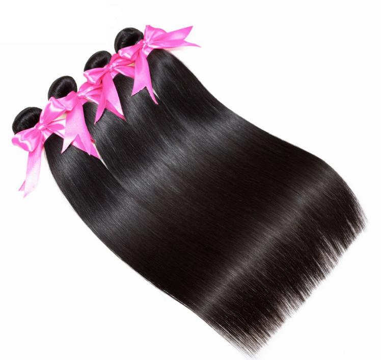 Peruvian Straight Hair Extension Human Hair Bundles 100 Remy 4 Bundles Hair Weaves Nature Color Hai Human Hair Straight Hair Extensions Peruvian Straight Hair