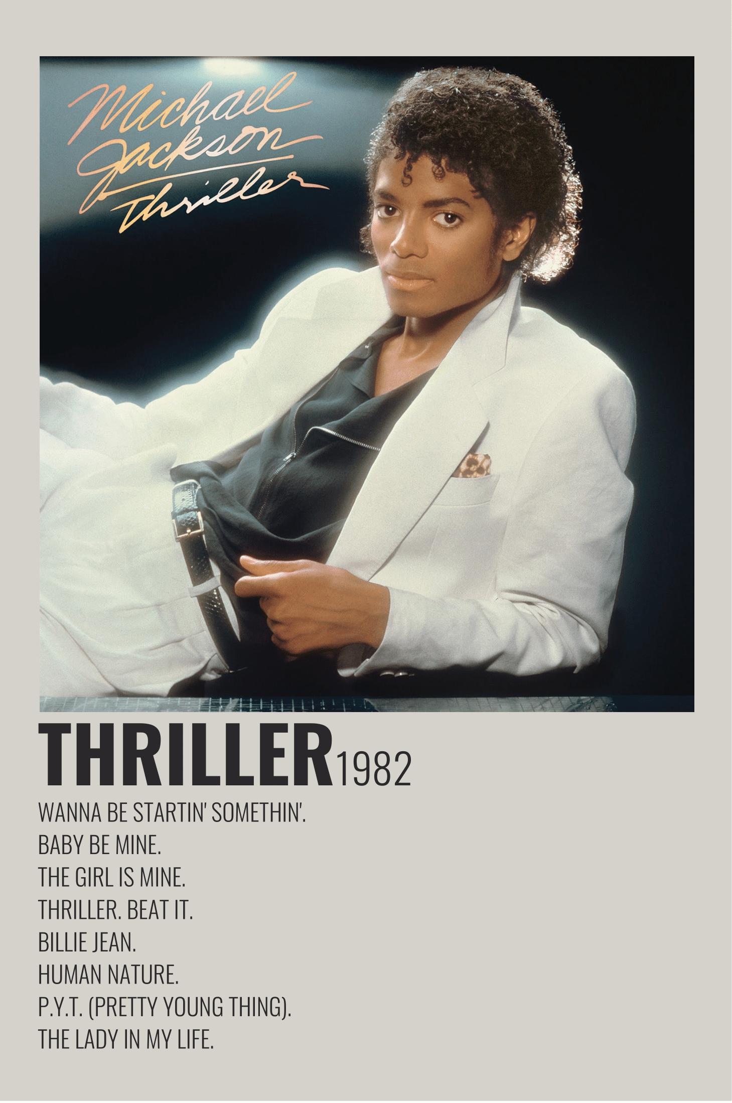 Thriller By Michael Jackson Album Wall Art Minimalist Music Music Album Cover Michael Jackson Poster