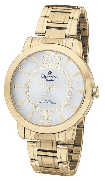 f17e0410aec Relógio Champion Passion Feminino Dourado CH24259H