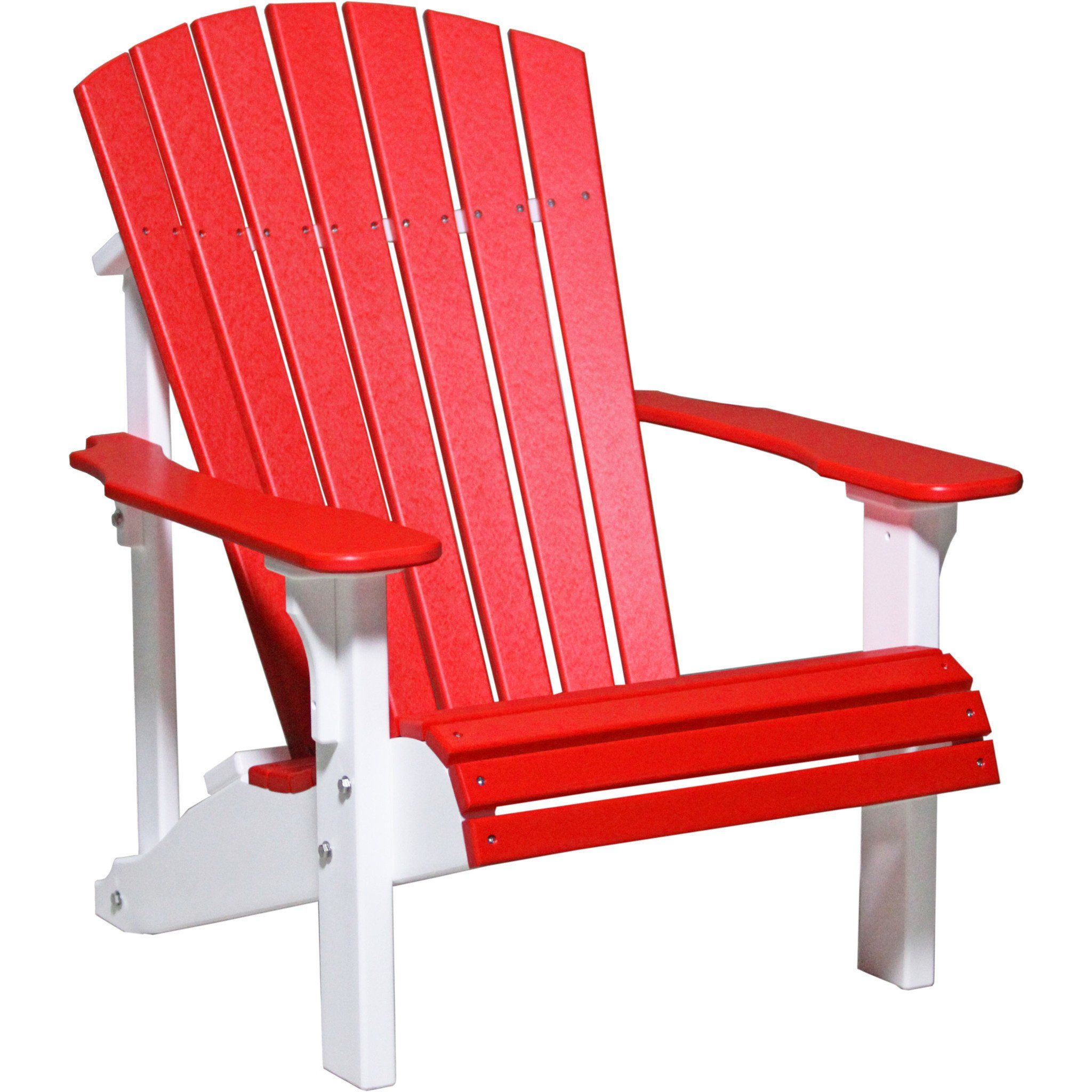 Luxcraft Recycled Plastic Deluxe Adirondack Chair Wood Patio