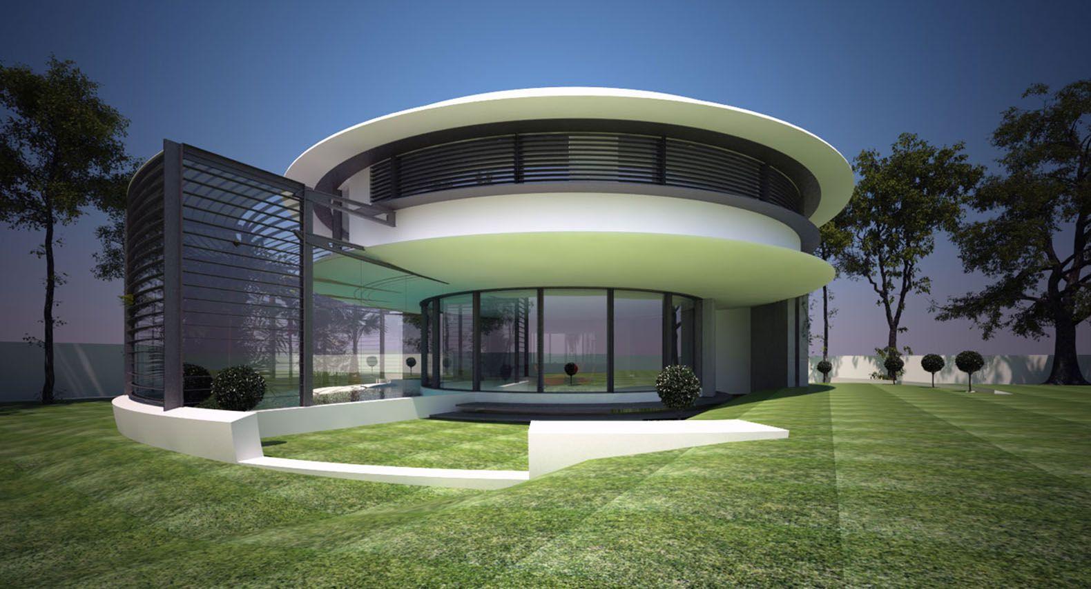 Circle House By Razvan Barsan Partners Circle House Round Building Round House