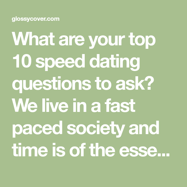 Speed dating in seattle
