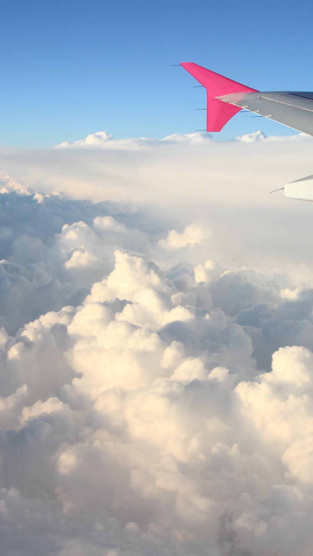 Wallpaper Iphone Airplane Wing Right Fond D Ecran Avion Arriere Plan Arriere Plans Iphone