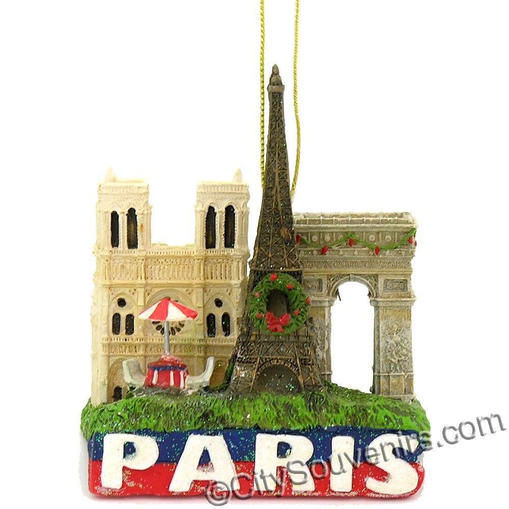 Eiffel tower christmas tree ornament - Nycwebstore Com Paris Skyline And Eiffel Tower Christmas Ornament Http