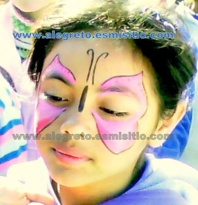 maquillaje infantil mariposa
