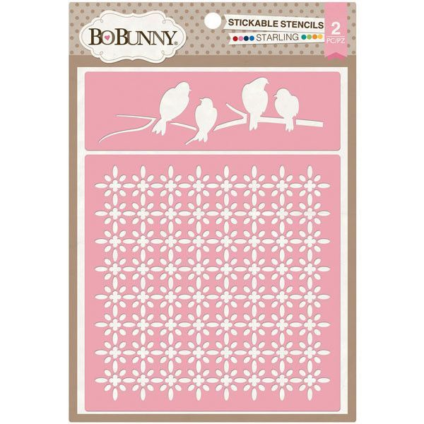 BoBunny Essentials Stickable Stencil Set - Starling