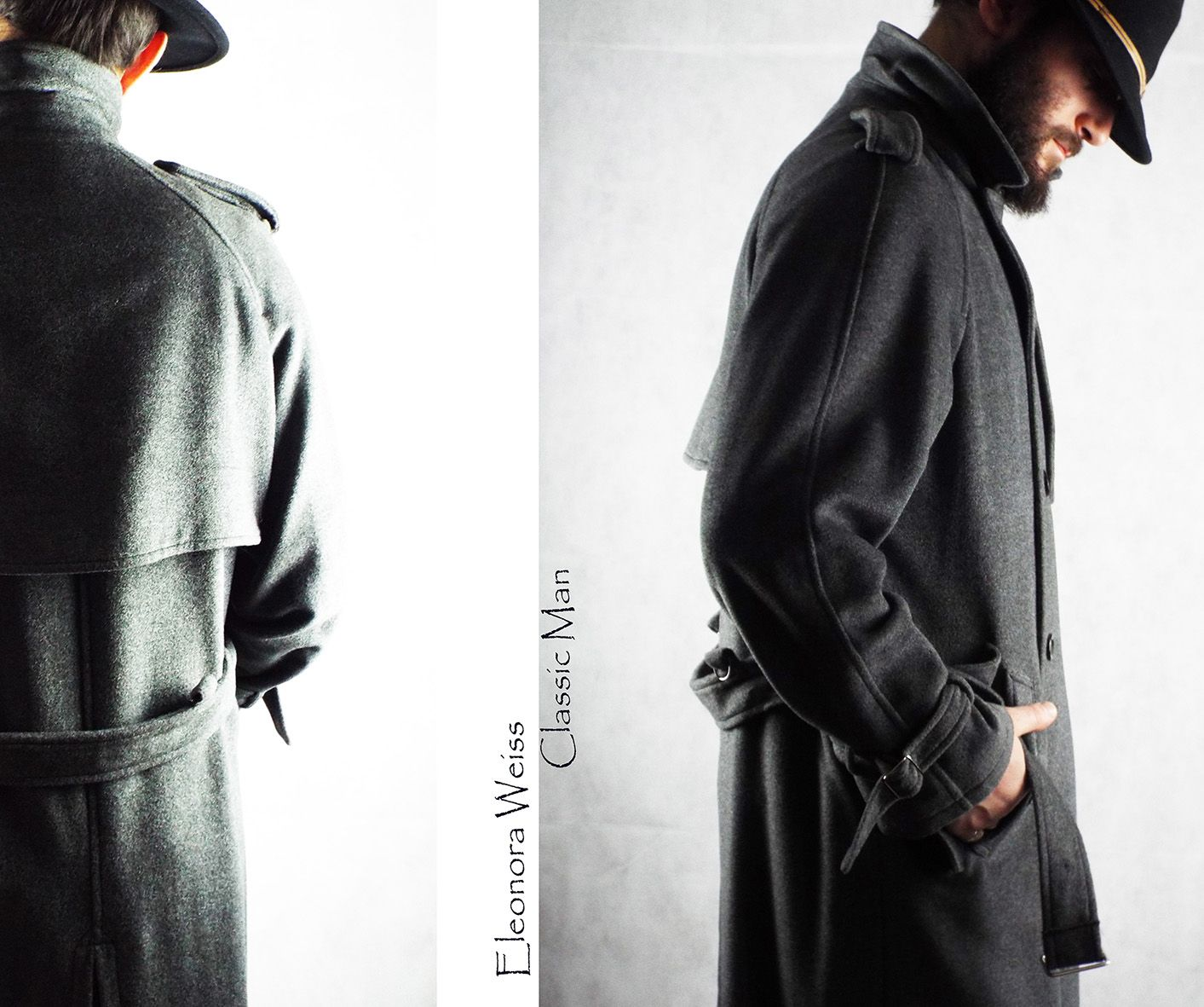 455cfd29cc3 Classic Man Trench in loden seta unisex