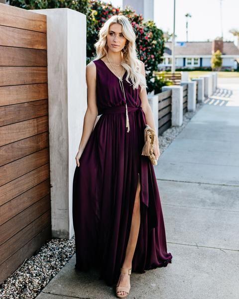 56aa9b08cbc2 Diana Sleeveless Maxi Dress - Wine | Fashion in 2019 | Dresses ...
