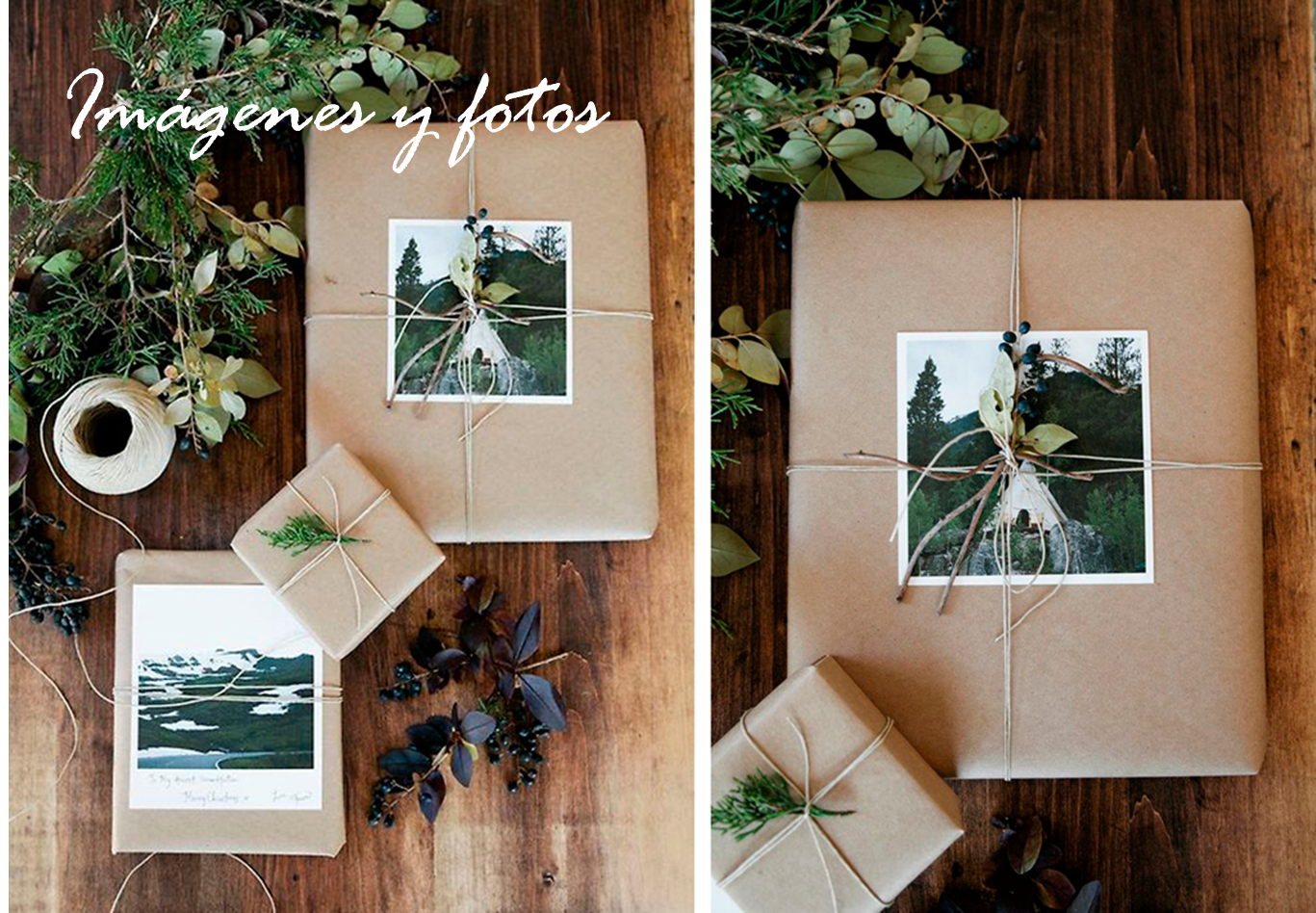 Ideas con papel kraft para regalos navide os regalos - Ideas para envolver regalos navidenos ...
