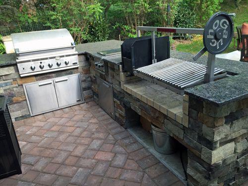 Gaucho Grills Insert In A Custom Counter Top Setting Outdoor Kitchen Design Outdoor Bbq Outdoor