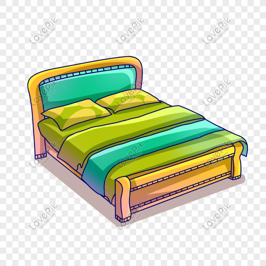 Una Bonita Cama Doble De Dibujos Animados Bed Workout Double Beds Cartoon