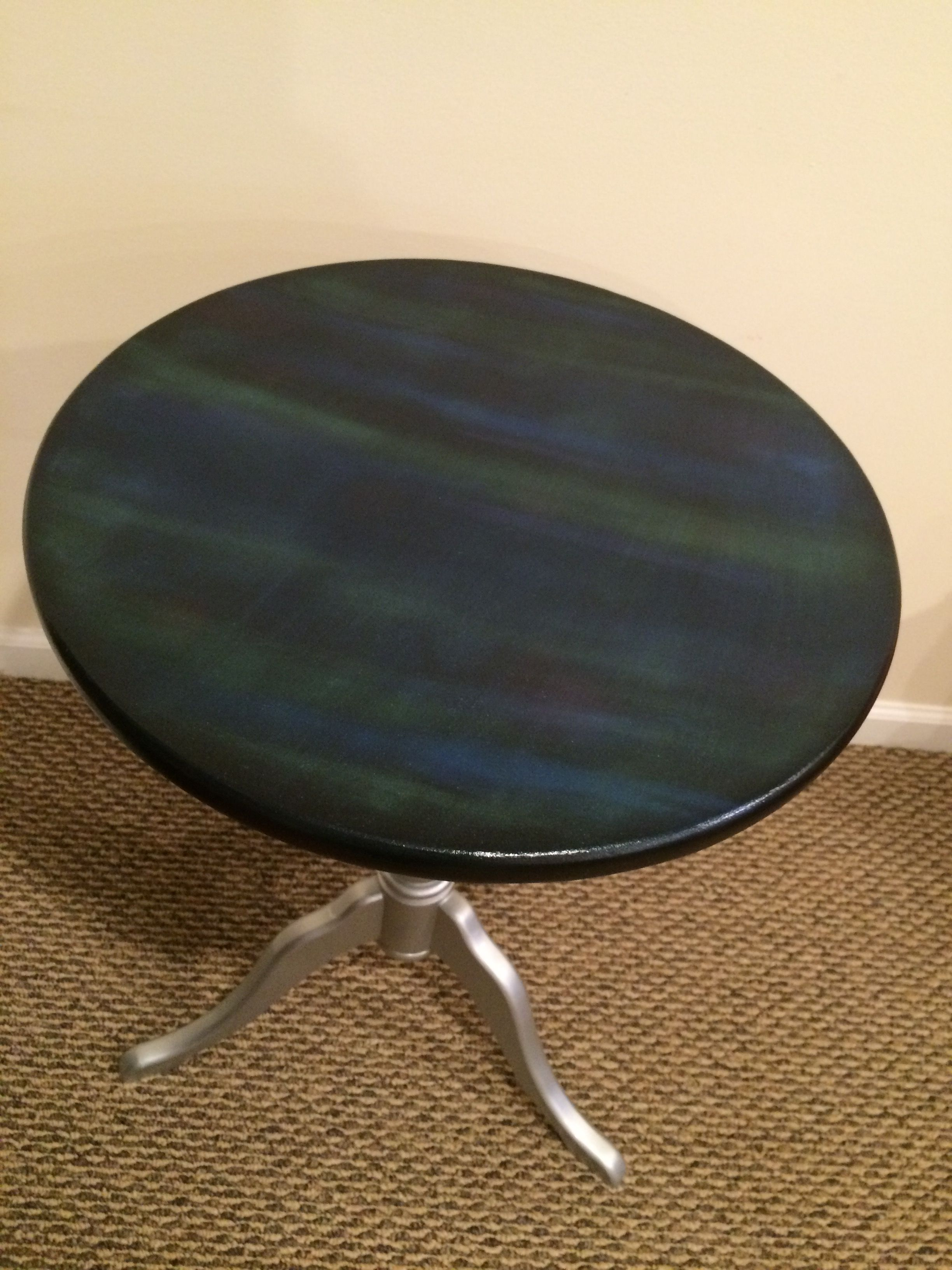 Table Top Done With Pearl Ex Pigment Powder And Metallic Base  # Muebles Peekskill