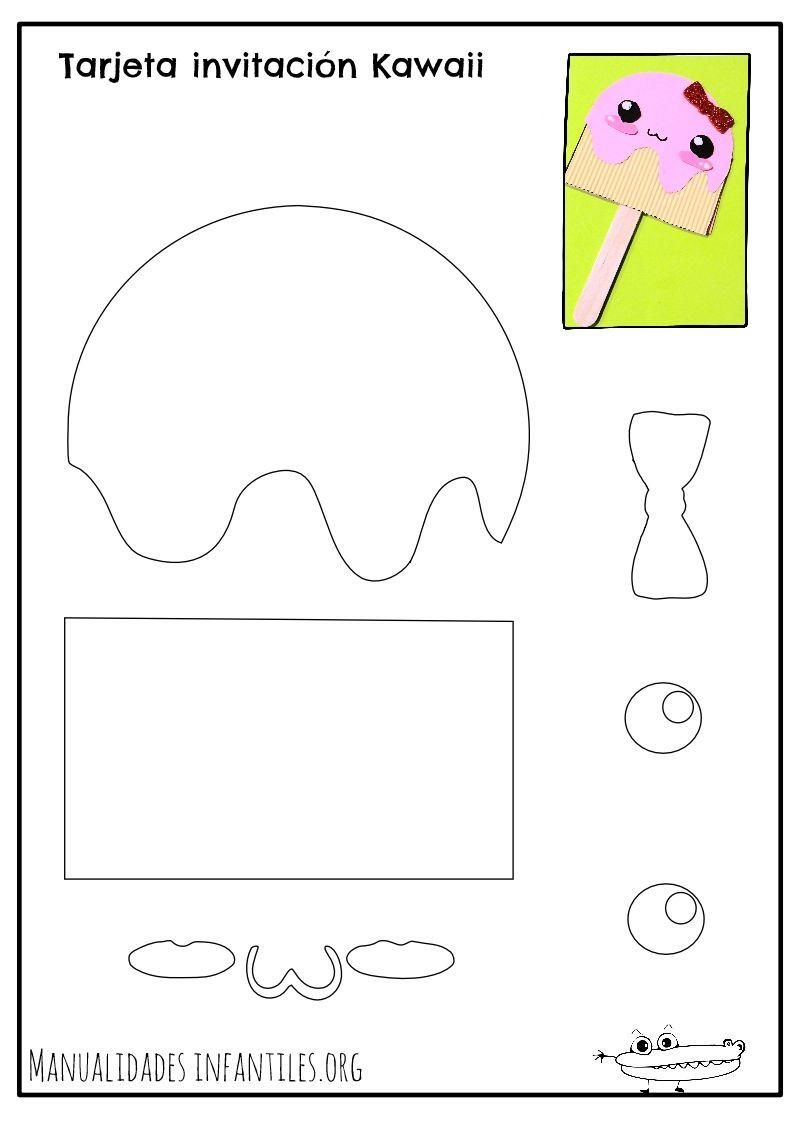 Plantilla para Tarjeta de helado Kawaii | plantillas 2 | Pinterest ...
