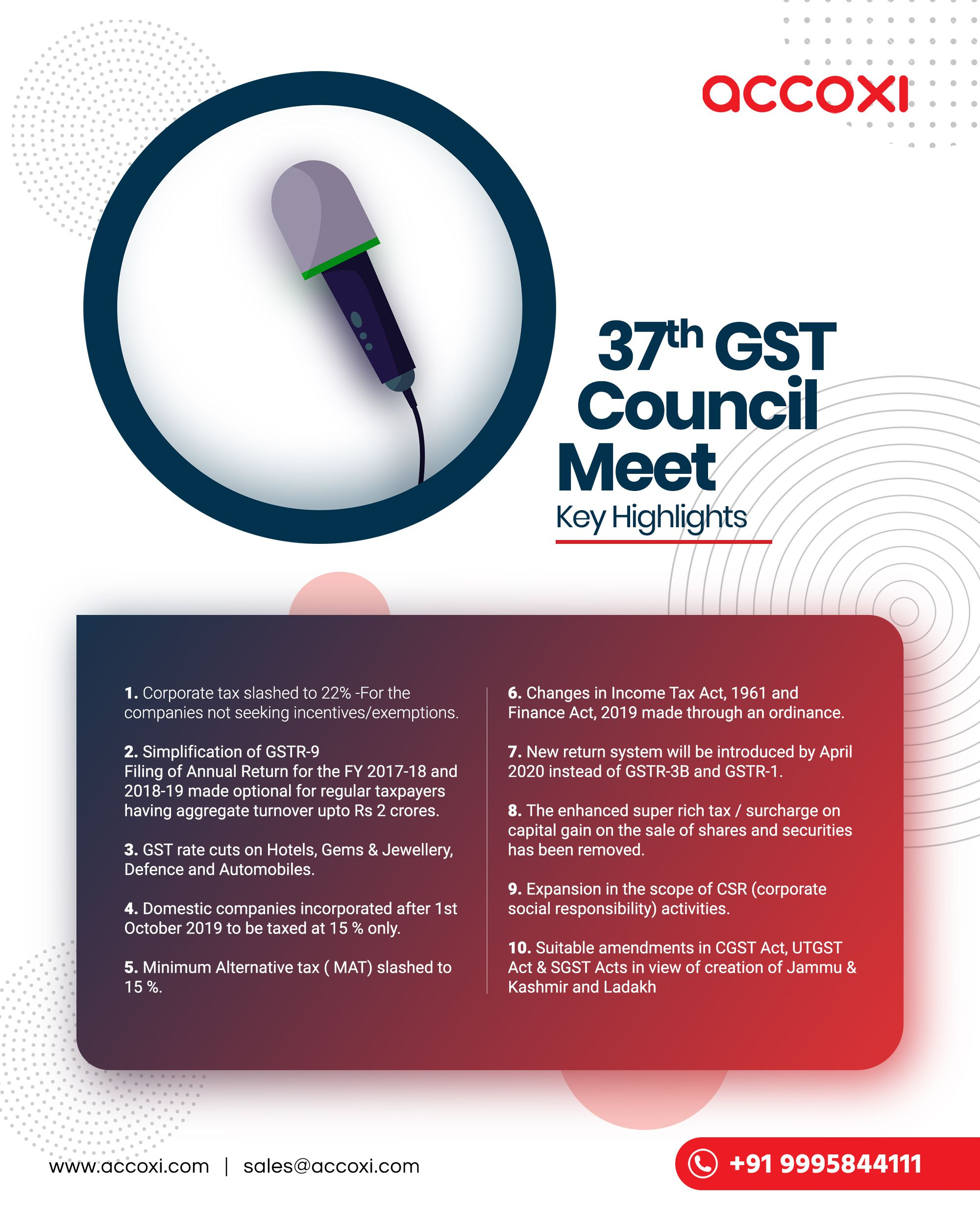 37th Gst Council Meeting Key Highlights Accounting Business Tax Accountant Finance Bookkeeping Smallbusiness Taxes Tax Consulting Council Tax Season