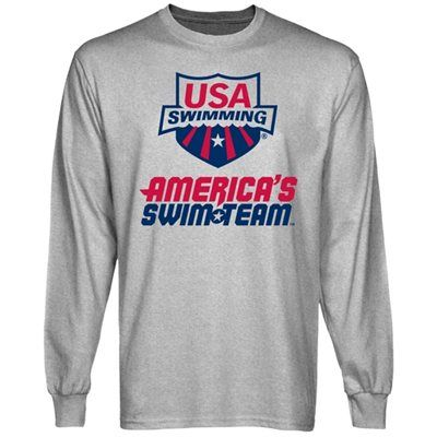 45c55929 USA Swimming America's Swim Team Long Sleeve T-Shirt - Ash | USA ...