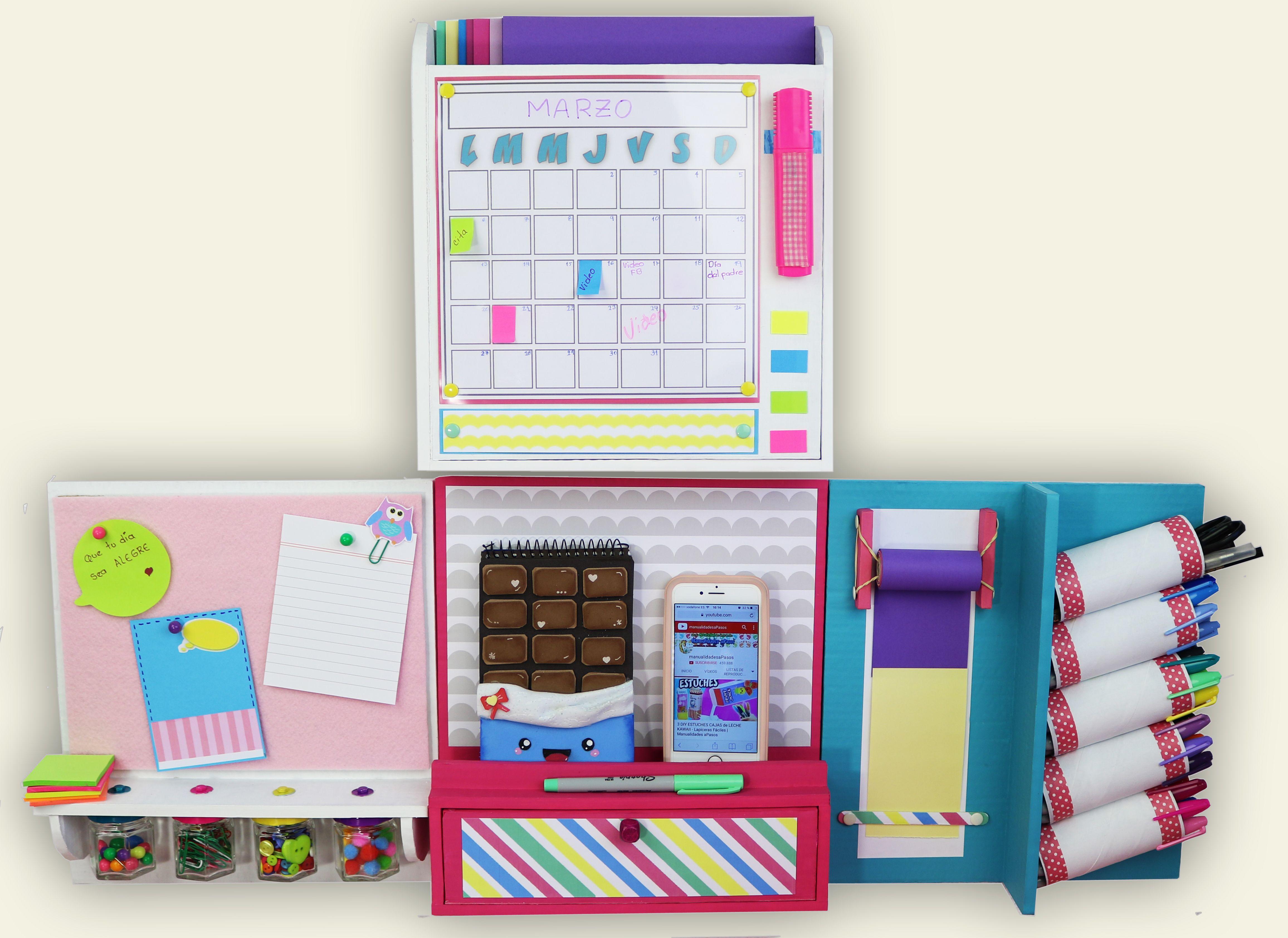 6 diy organizadores de pared organizadores diy manualidades y diy school supplies - Organizadores escritorio ...