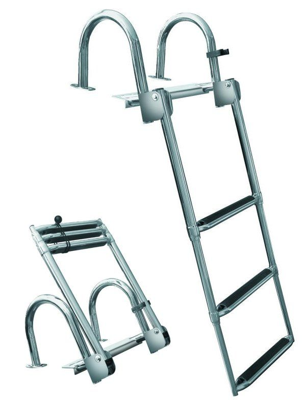Jif Fjl3 3 Step Premium Stainless Rear Entry Ladder