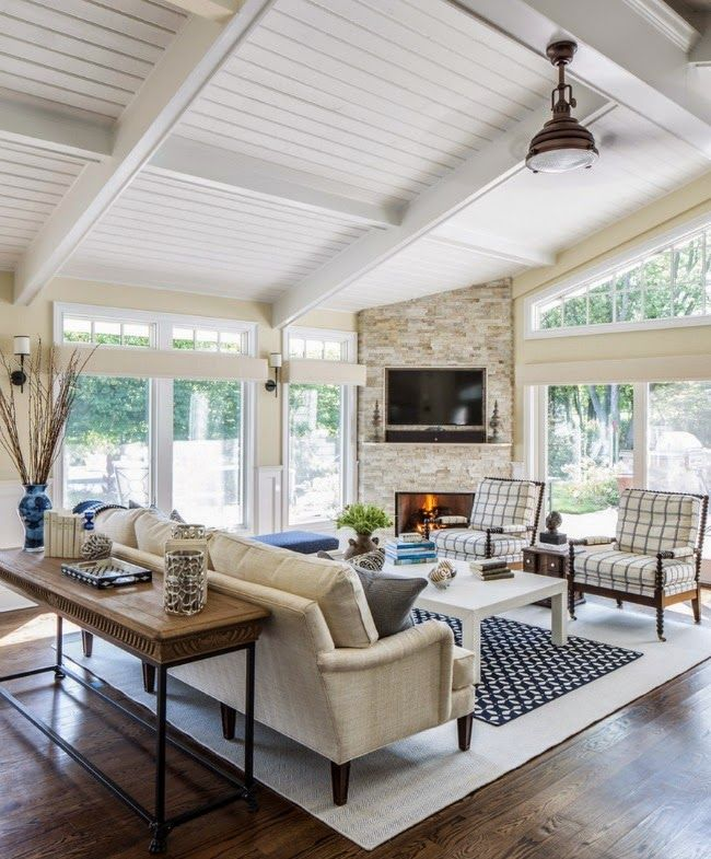Bring The Shore Into Home With Beach Style Living Room: Living Room Decor, Living