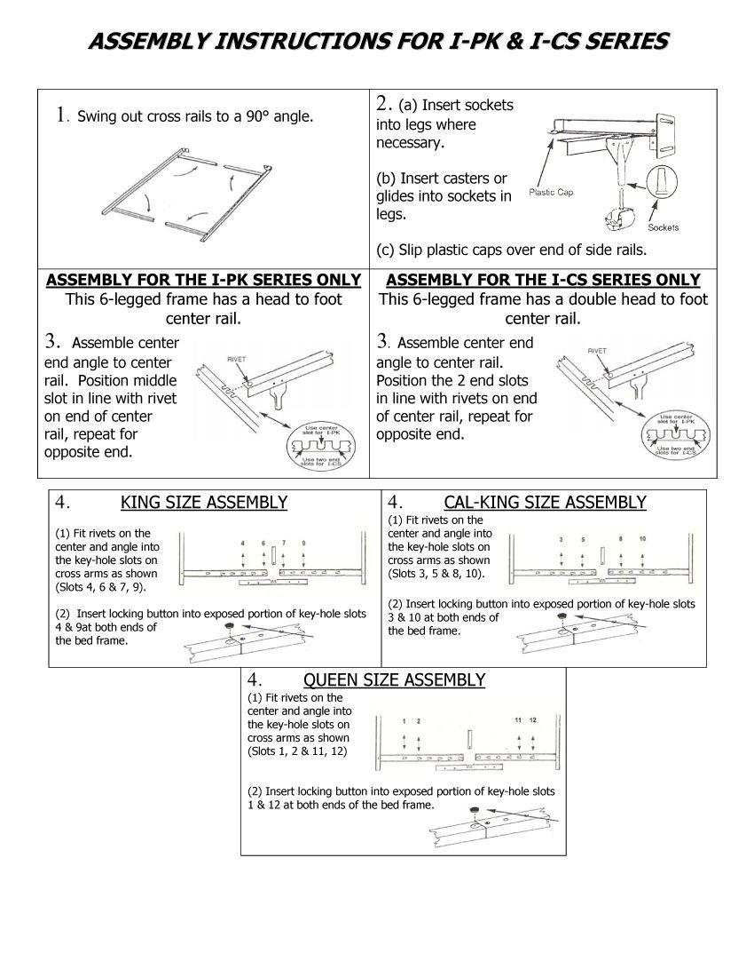 How To Assemble The Mantua I Cs375 Bed Frame Http Www Matt To