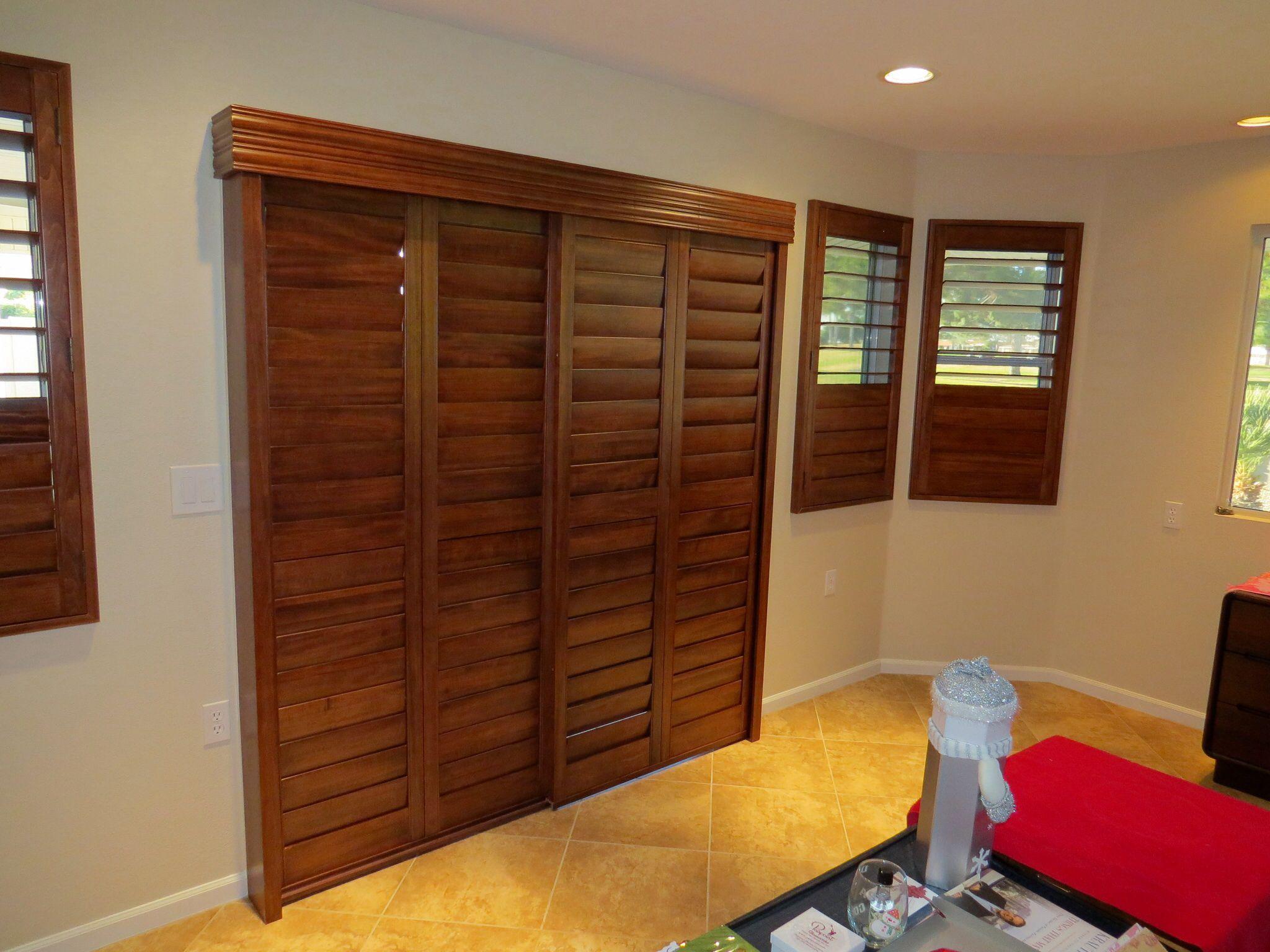 Triangle windows photos supplying wooden window shutters for - Bypass Sliding Shutter Panels 4 1 2 With Hidden Tilt Wide Open Large Windowsvalancesshutters