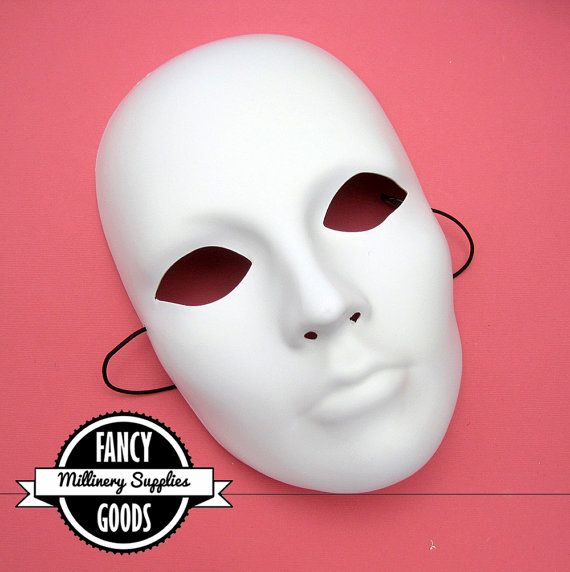 White Masks To Decorate White  Paint  Decorate Your Own  Face Mask  Party Mask  Diy