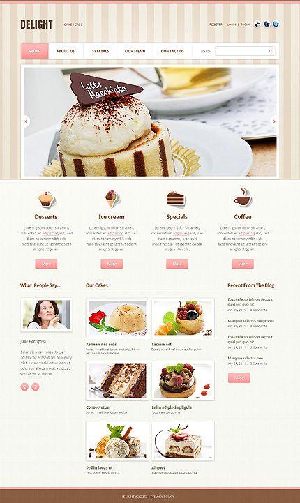 Template 43795 - Scorini Cafe Website Template | Cafe and ...