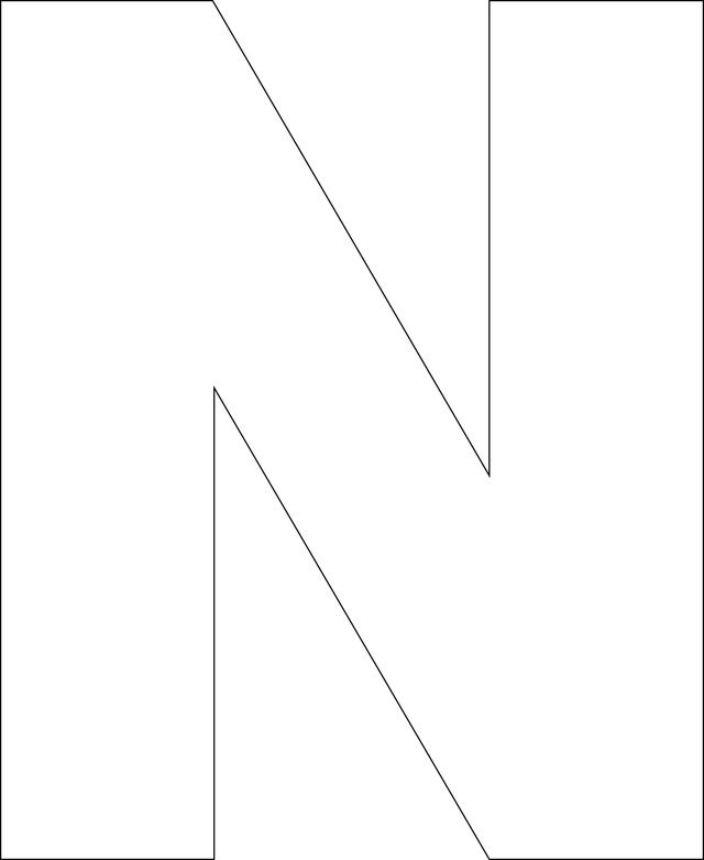 Free Printable Upper Case Alphabet Template Letter templates - letter i template