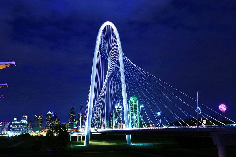 a Calatrava Bridge Dallas TX The Margaret Hunt Hill