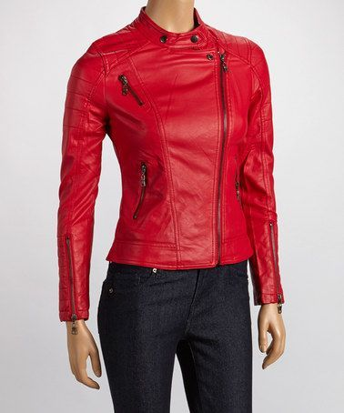 Brighten up your wardrobe with a red bomber jacket