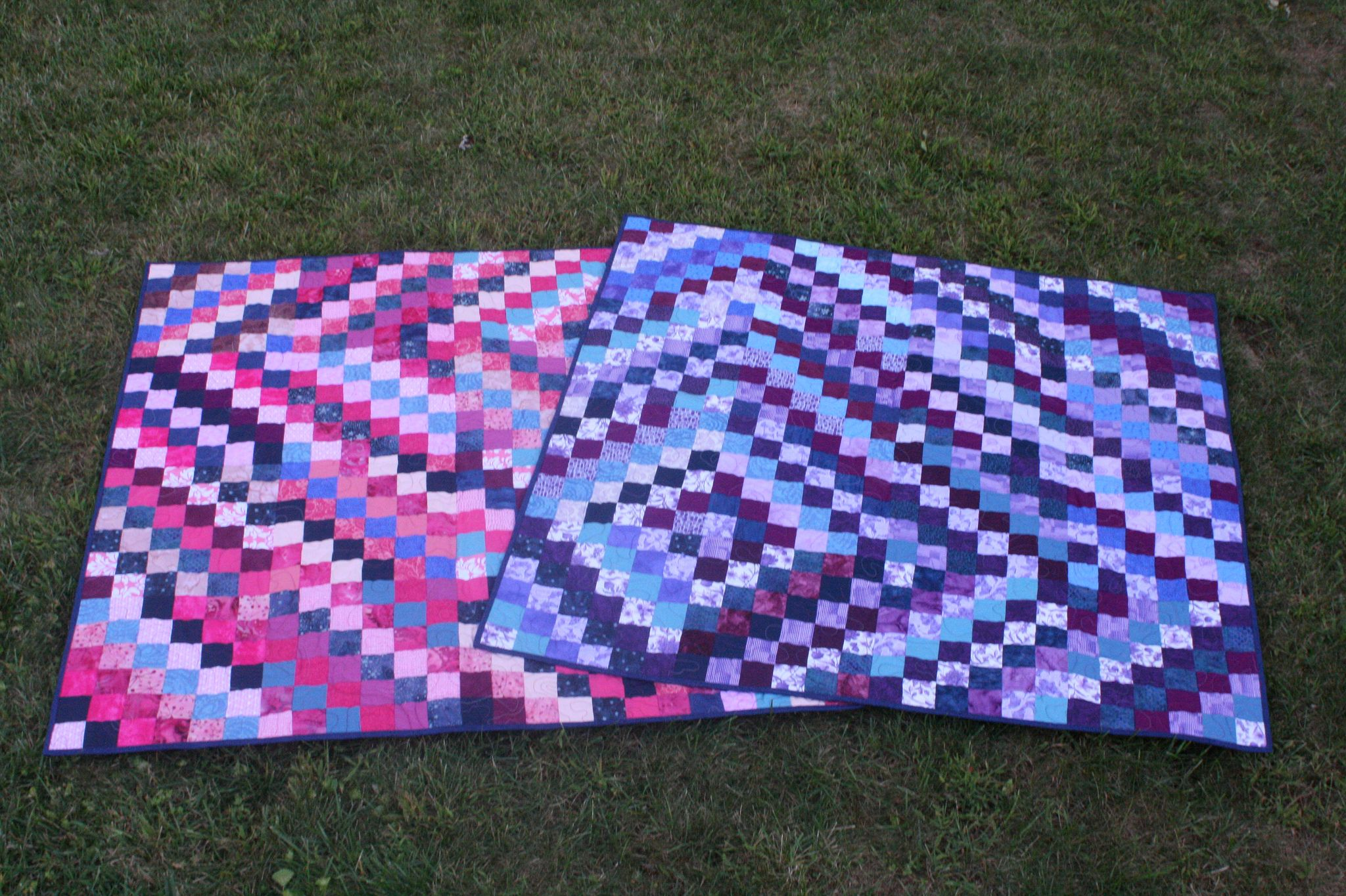Scrappy trip twin quilts... finally done! | by lobstervb