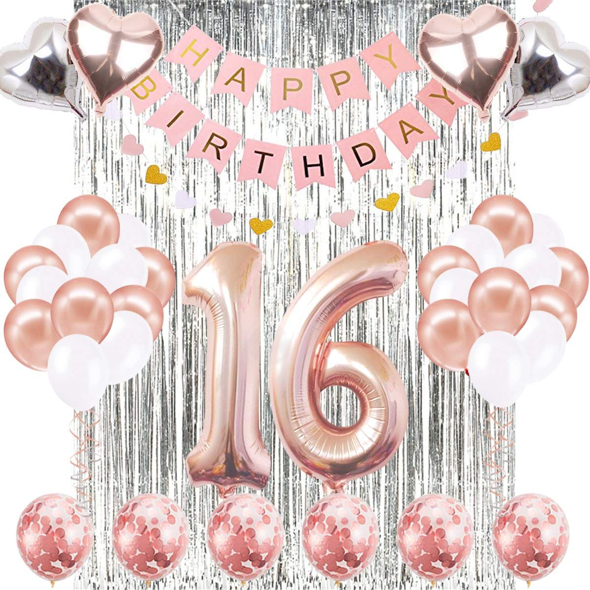 Rose Gold Glitz Number Age 16//16th Birthday Candle